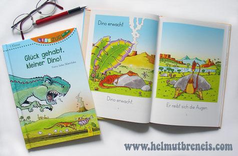 """""""Glück gehabt, kleiner Dino!"""" - Illustriert von Helmut »Dino« Breneis"""