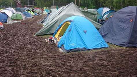Camping oder Schlammping