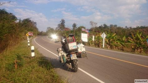kurz vor Na Haeo entlang der Grenze zu Laos