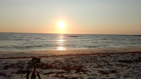 """""""Sonnenuntergang"""" nördlich des Polarkreises"""