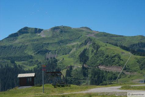 Skigebiet zu Samoens - da oben waren wir
