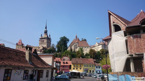 die Wehrkirche mit Glockenturm in Sighisoara (Schäßburg)
