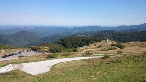 erinnert etwas an deutsche Mittelgebirge die Landschaft in Zentralbulgarien