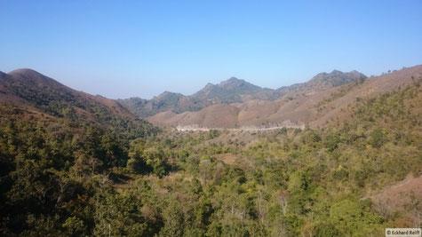 in den Bergen südlich von Mandalay