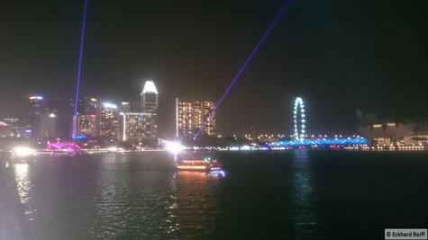 abends in der Marina Bay in Singapur, vor zehn Jahren war da einfach mal noch nichts