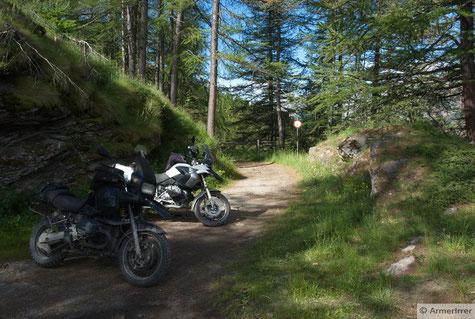 versuchter Schleichweg in Richtung Mt. Jafferau