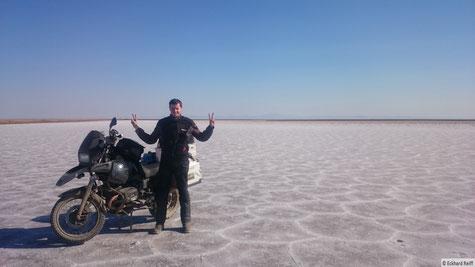 auf dem Salzsee zwischen Khoor und Tabas