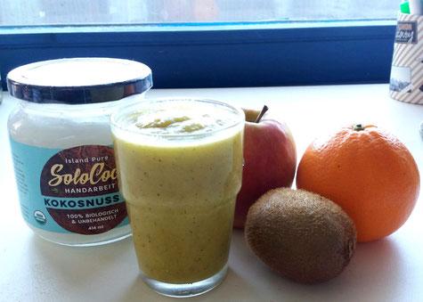 Gesund, Kalorienarm und hungerstillend - Smoothie mit SoloCoco