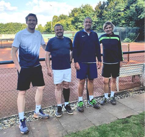 Herren TNB Vereinspokal 2021 Sven, Dominic, Tobias und Uwe (von links)
