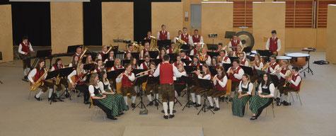 Musiker bei der Konzertwertung in Fehring