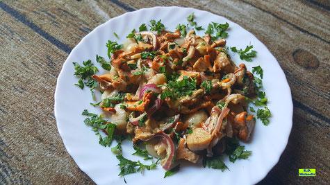 Rezeptvorschau auf ein Kochrezept aus Dinkel-Dreams 3 für selbstgemachte Kartoffel-Dinkel-Gnocchi in Pilzrahm von K.D. Michaelis