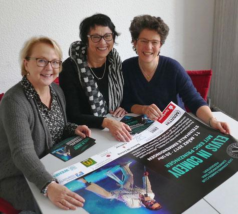 Von links: Past-Präsidentin Marie-Anne Grages, Präsidentin Jutta Klingl-Wagner und Vizepräsidentin Christiane Schlüter.