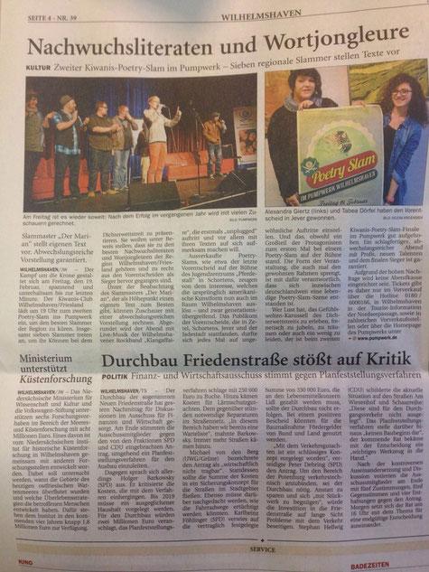 Jeversches Wochenblatt vom 16. Februar
