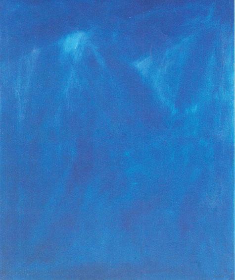 Bleu monacal, huile sur toile