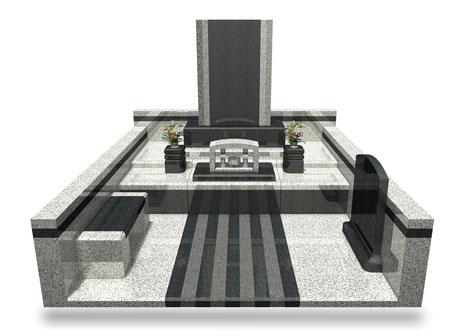 デザイナーズ墓石MemoireMaChereル・クール