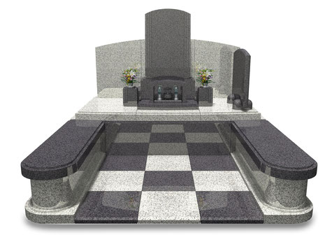 デザイナーズ墓石MemoireMaChereダミエⅡ