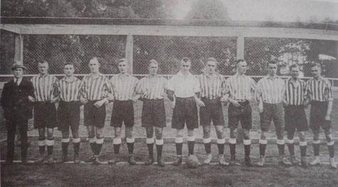 Mannschaft des KSC im Jahre 1920