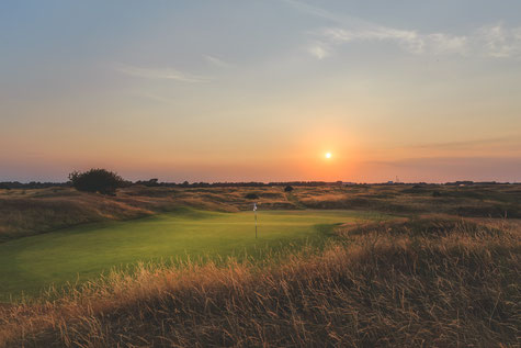 3rd hole, Royal St George's Golf Club, Sandwich Kent, shown on nearby accommodation provider's blog, about the Open 2020: Broadstairs Apartments
