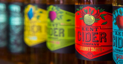 Kent Cider Company at The Broadstairs Food Festival. Local produce from the Garden of England