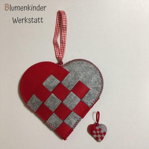 Blumenkinderwerkstatt nordische Webherzen