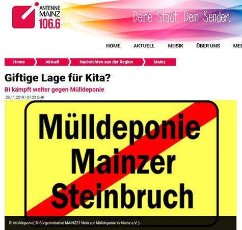 BI Mülldeponie (© Bürgerinitiative MAINZ21 Nein zur Mülldeponie in Mainz e.V. )
