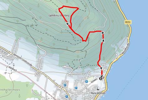 Route von Attersee am Attersee auf den Buchberg
