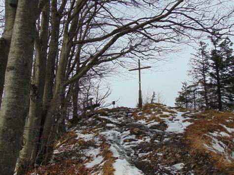 Hohe Dirn Gipfelkreuz, Weiterwanderung zur Anton-Schosser Hütte und auf den Schwarzkogel