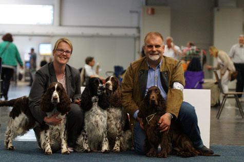 Vier Hunde - vier Europasieger! Foto: Ulf F. Baumann
