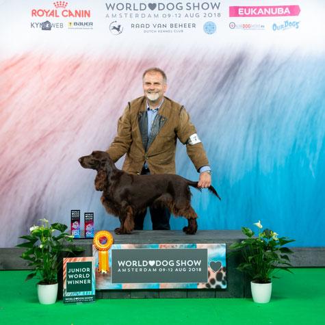 """Noble Alice Belauer See"" becomes Junior World Winner 2018, Photo: Kynoweb"