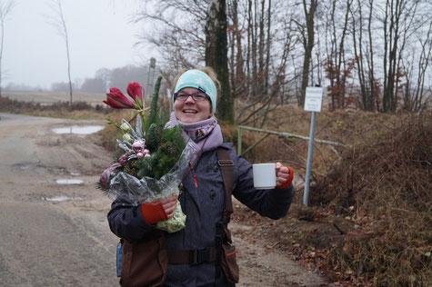 Ein kleines Dankeschön für die geleistete Arbeit! Fotos: Ulf F. Baumann