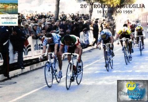 Foto courtesy: archivio TLS, Silvio MArtinello 3° al Trofeo Laigueglia 1989
