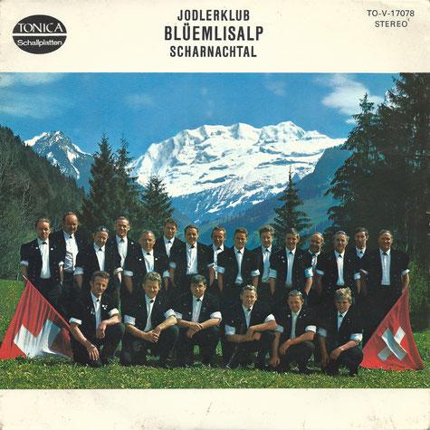 Schallplattencover Jodlerklub Blüemlisalp Scharnachtal 1972
