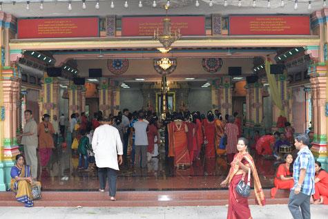 Un temple Indien au détour d'une rue