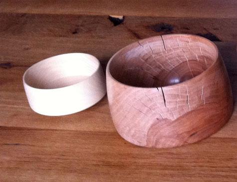 Holz, Schale, Drechselarbeit, Tilmann Bohne, Holzsteinpapier