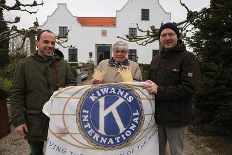von links: Jan Rheker (Haus Erprath), Kiwanis-Präsident Dieter Kalbhenn und Past-President Roland Dertinger freuen sich auf viele Gäste