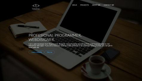 nikolaytomov.com portfolio