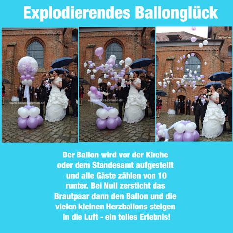 Explodierendes Ballonglück, St. Marien Kirche, Osterholz-Scharmbeck