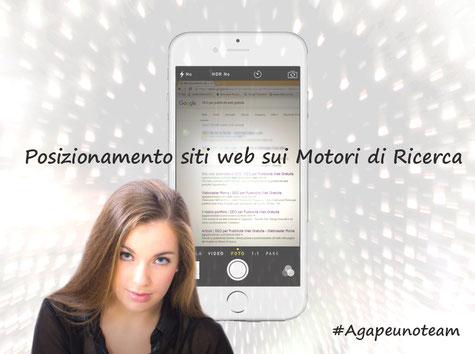 posizionamento siti web Motori Ricerca ragazza e iPhone