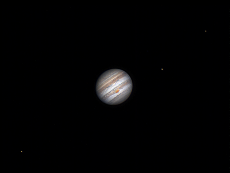 Io, Jupiter, Ganimedes y Europa, 25 de Mayo de 2.017