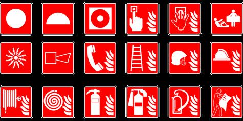 Feuerlöscher Symbol, Fluchtweg, Rettungsweg, ASR A1.3