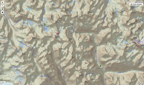 Grouse Meadows via Muir Pass bis zum Ende des Wanda Lakes