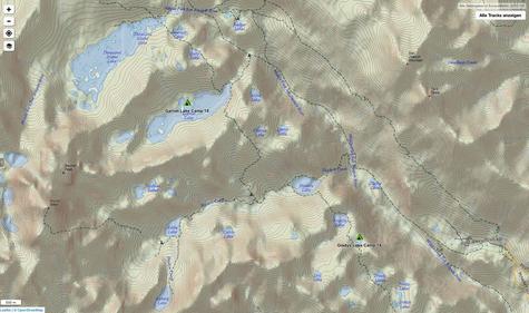 Von Gladys Lake bis auf die Halbinsel im Garnet Lake