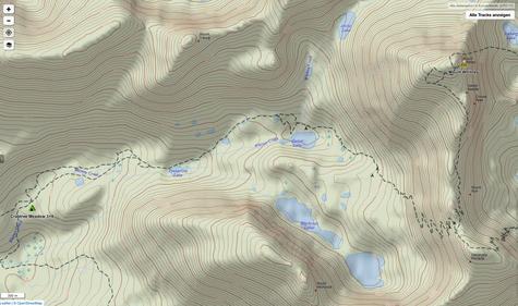Crabtree Meadow zum Gipfel des Mount Whitney und zurück