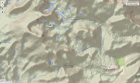 Cottonwood Lakes Trailhead nach Long Lake