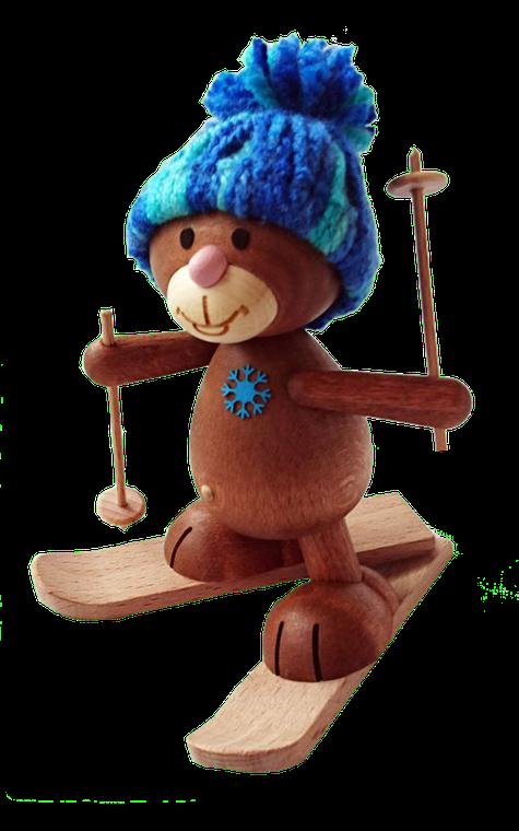 Winterkunibärt Kunibärts Skifahrer handgestrickte Mütze
