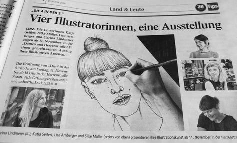 Bericht in den TIPS zur Ausstellung mit Carina Lindmeier & Lisa Arnberger