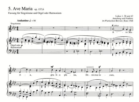 ↑ハルモニウム伴奏バージョンのAve Maria, op.157,6