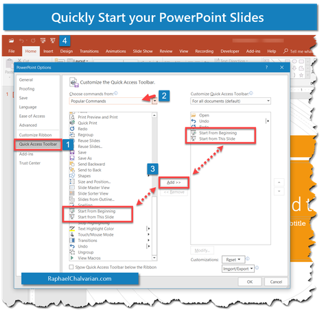 Start your Powerpoint Slides - Powerpoint & Excel explained