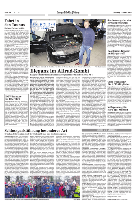 Damm-Fahrzeugtechnik / Audi RS4 / Tuning / Pressebericht