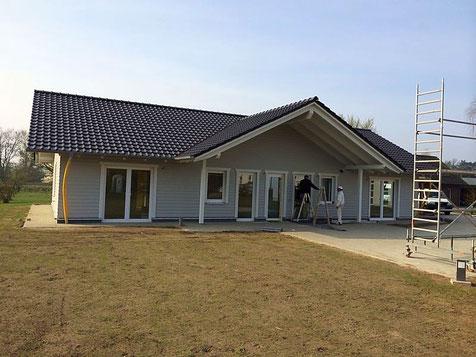 Neubau Holzrahmenbau Wohnhaus Zimmerei Thiermann